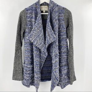 Lucky Brand blue and grey open style cardigan